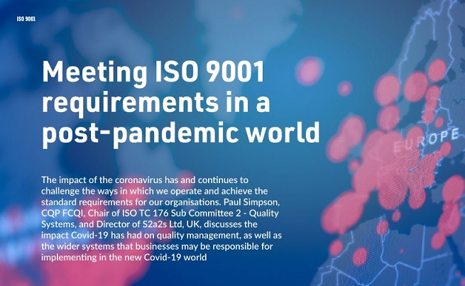 パンデミック後の世界においてISO 9001 の要求事項を満たすということ (Quality World 2020年11/12月号より)